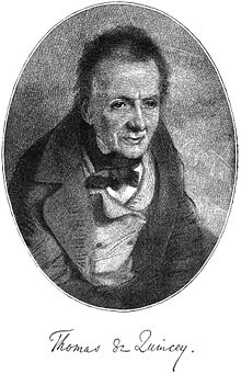 Thomas de Quincey Citations